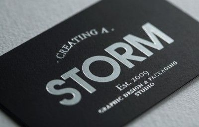 CREATING A STORM BUSINESS CARD PREVIEW