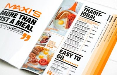 MAXI'S MENU DESIGN PREVIEW