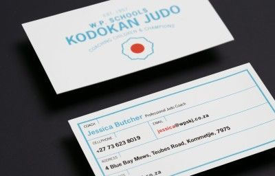 WESTERN PROVINCE KODOKAN JUDO BUSINESS CARDS PREVIEW